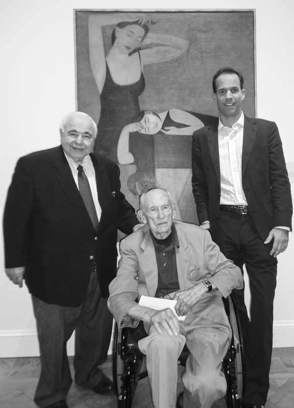 John with friend and artist Will Barnet and                               collector Larry Dubin in 2011, at the National                               Academy Museum in New York City.