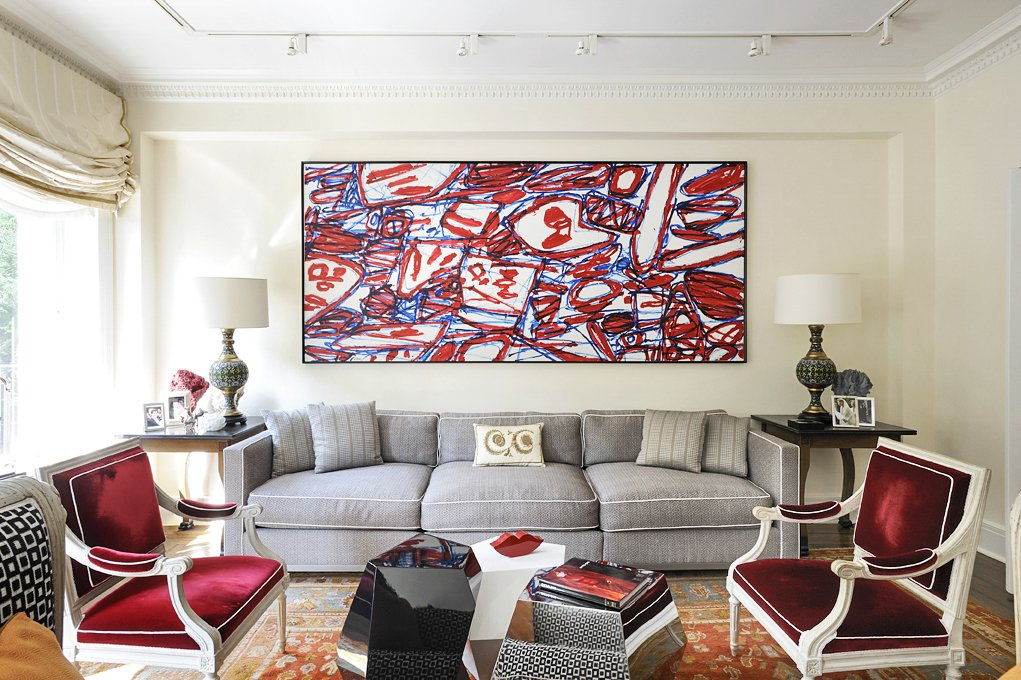 Boléro, 1983, a painting by Jean Dubuffet, dominates one end of the living room. A pair of armchairs by the great 18th-century Paris chairmaker Georges ...