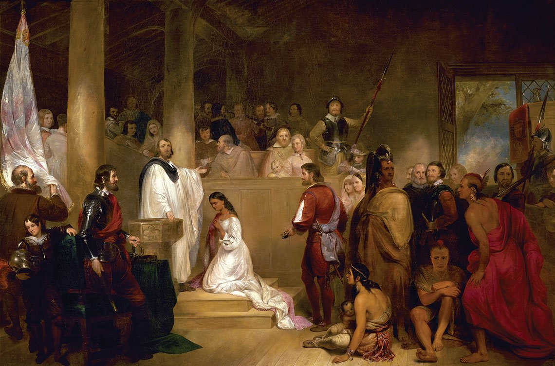 The true story of Pocahontas in art history: John Gadsby Chapman, The Baptism of Pocahontas