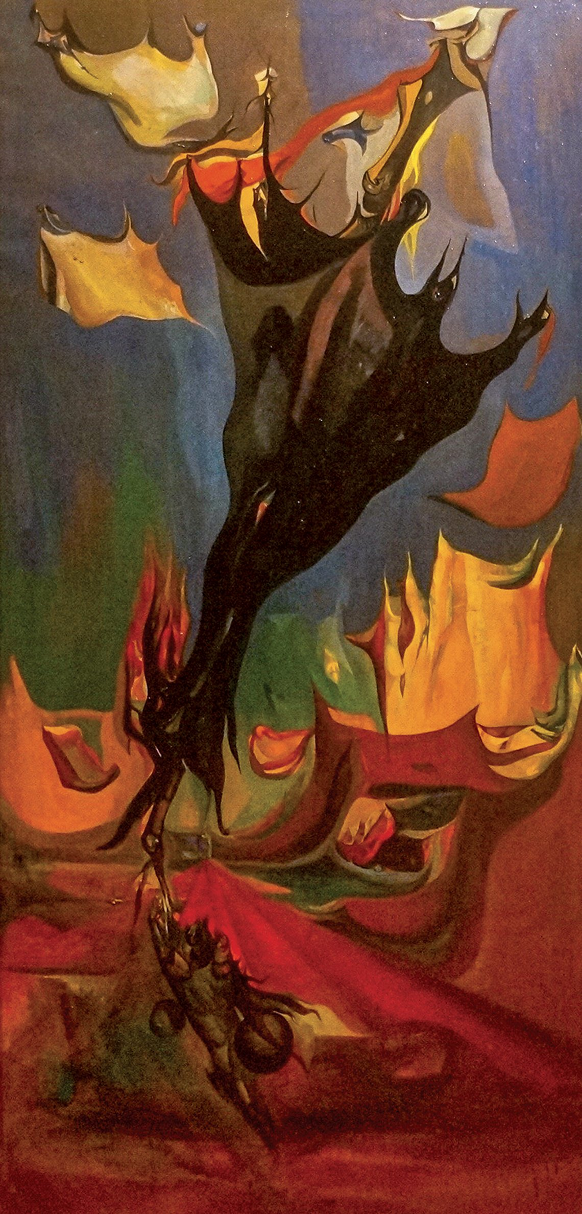 Leon kelly 1901 1982 gigantic umbrella 1940 oil on canvas 51 x 24 inches