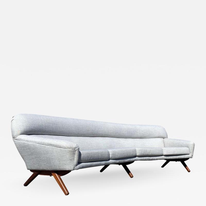 A Mikael Laursen Illum Wikkelso Mikael Laursen 4 Seat Sofa Denmark 1960s