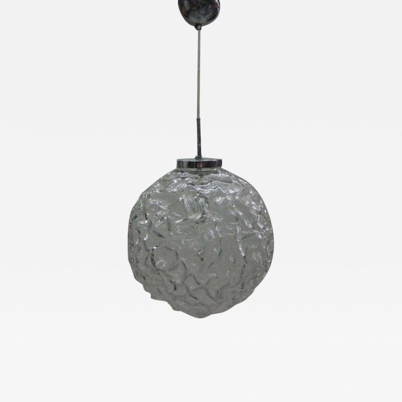 A V Mazzega Italian Mid Century Blown Murano Glass Pendant or Lantern Attributed to Mazzega