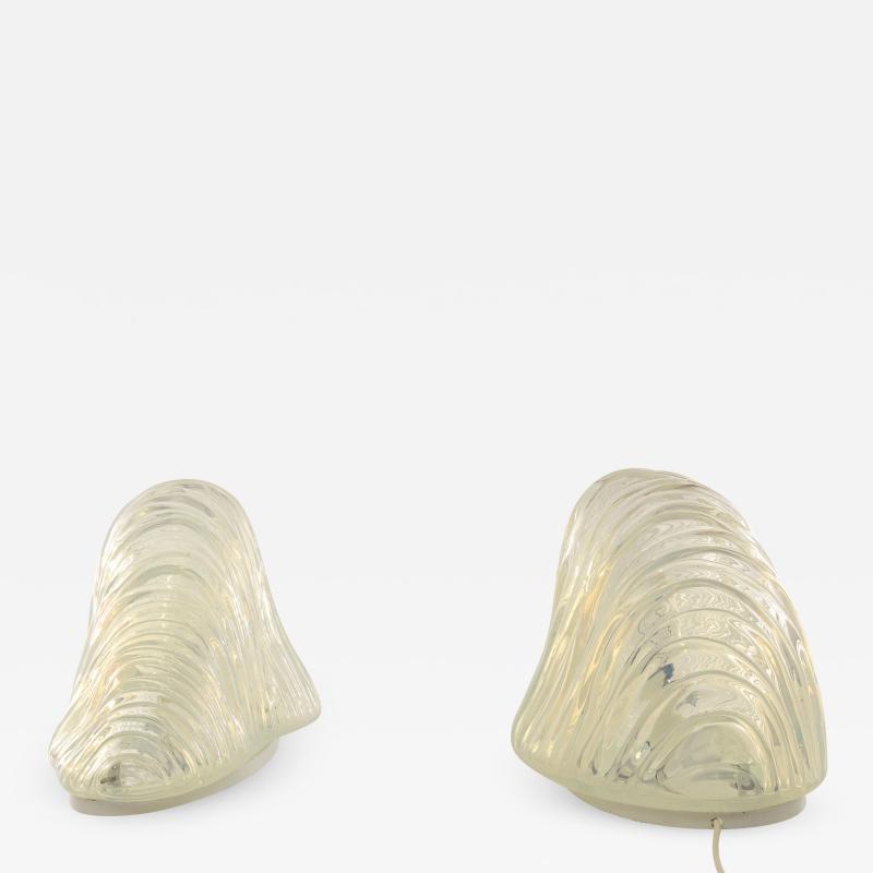 A V Mazzega Pair of Iceberg table lamps by Carlo Nason for A V Mazzega 1960s