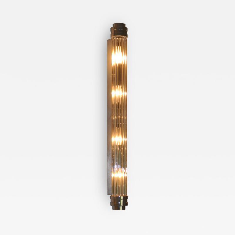 ADG Lighting 90762 Glass Rod Nickel Sconce ADG Lighting
