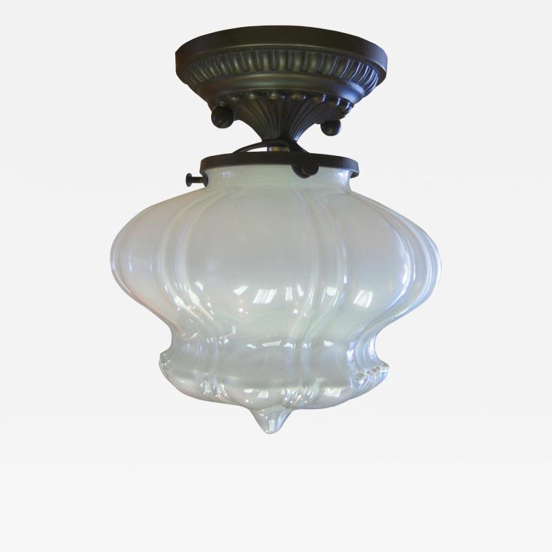 ADG Lighting Vaseline glass ceiling flush