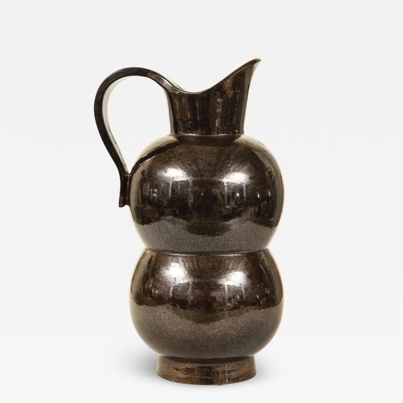 Accolay Pottery MONUMENTAL METALLIC PITCHER BY ACCOLAY