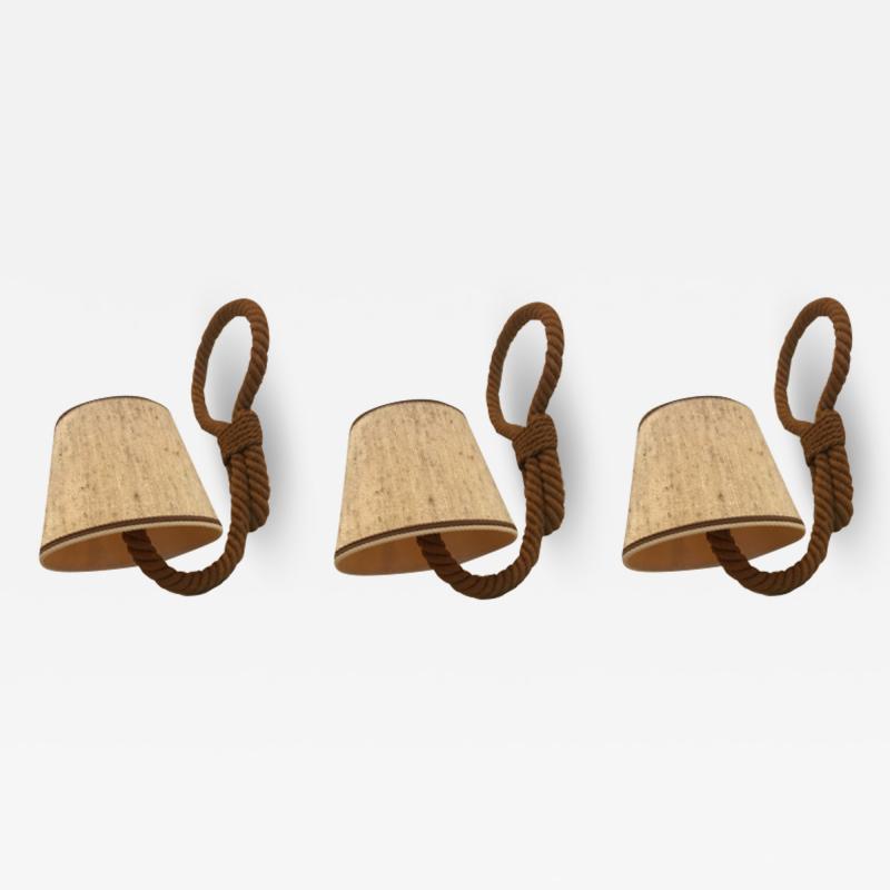Adrien Audoux Frida Minet Audoux Minet set of 3 rope sconces