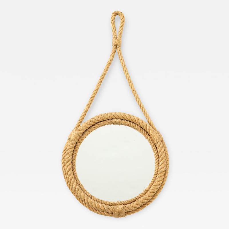 Adrien Audoux Frida Minet Petite rope mirror by Audoux Minnet France 1960s