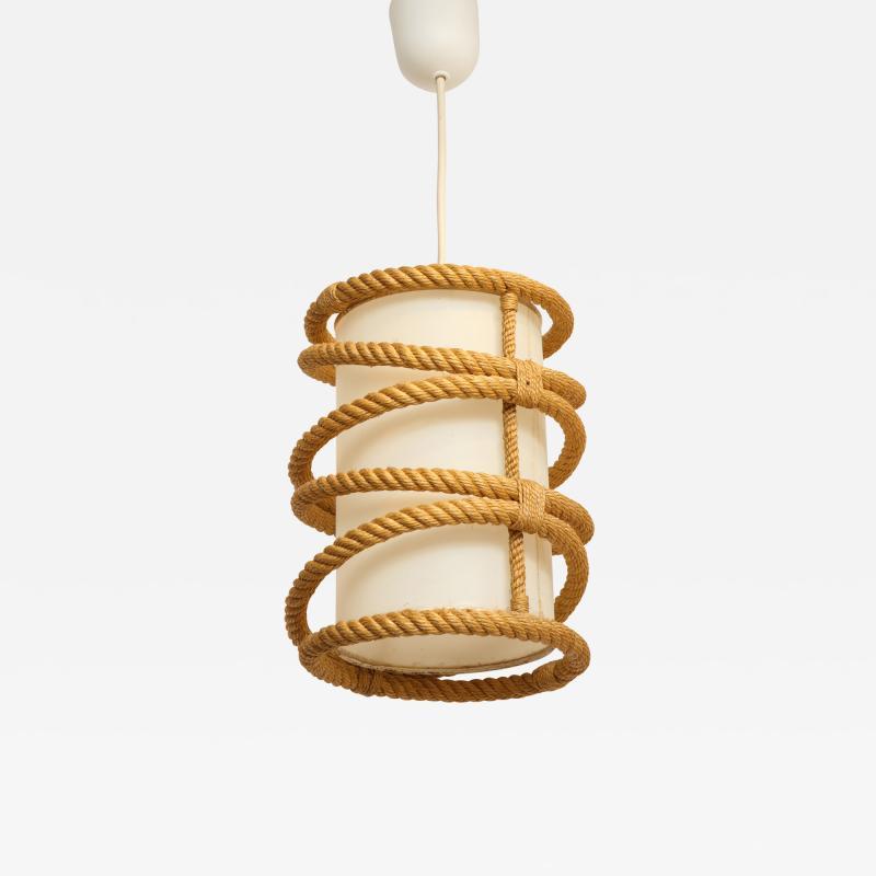 Adrien Audoux Frida Minet Rope chandelier pendant by Audoux Minnet France 1960s