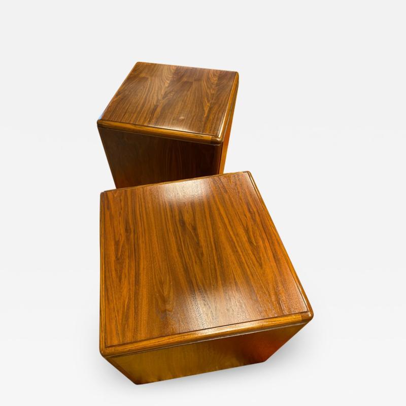 Altavista Lane Wooden cube table pair