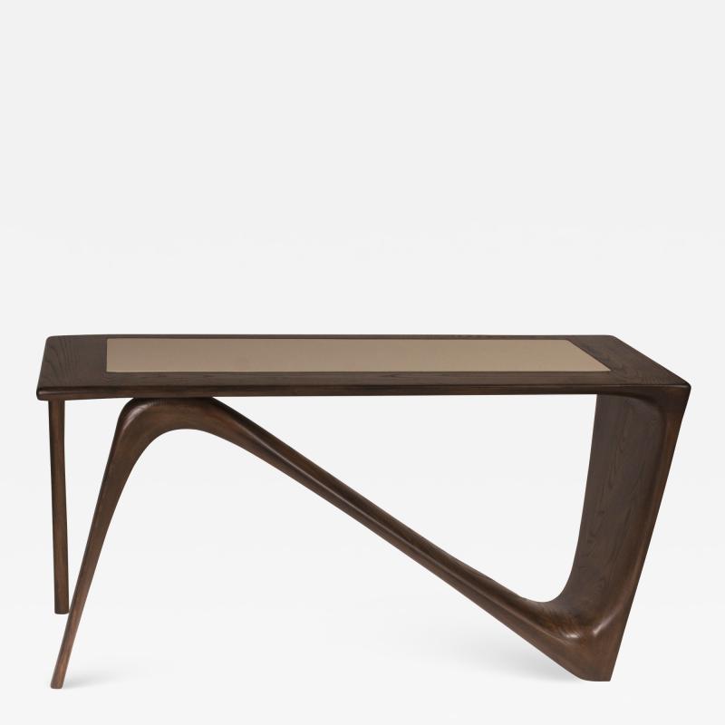 Amorph Amorph Astra Desk Rectangular Graphite Walnut Finish