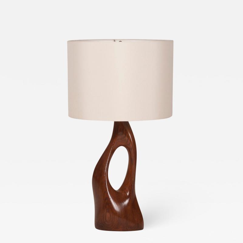 Amorph Amorph Helix Table Lamp Walnut Finish With Ivory Silk Shade