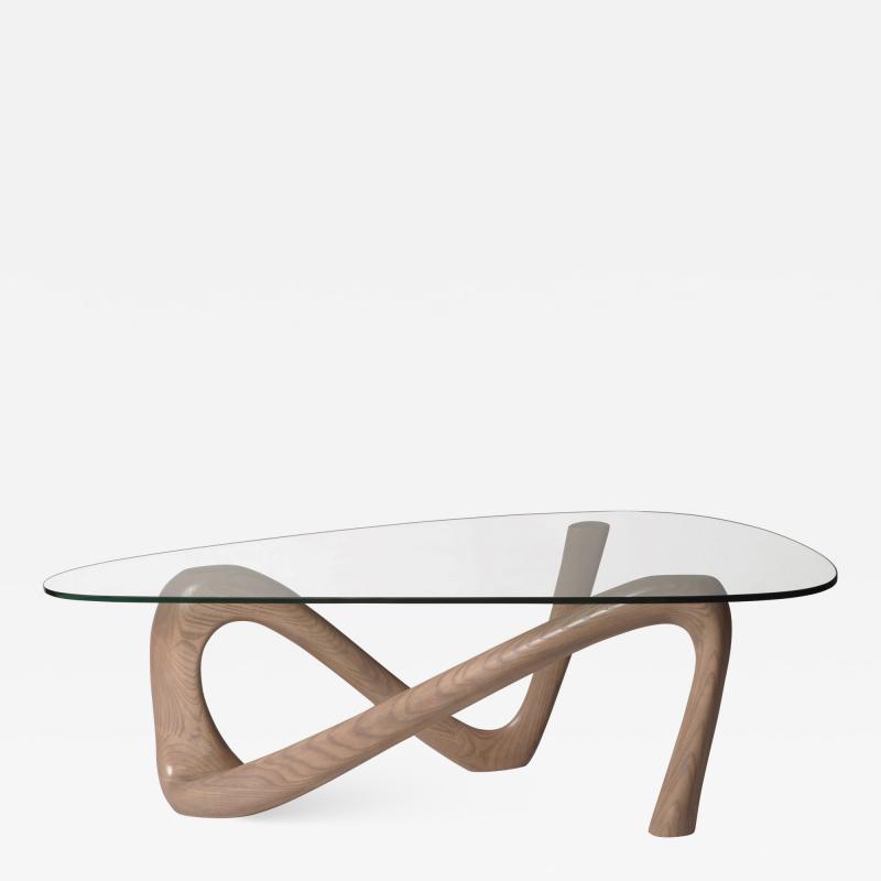 Amorph Amorph Iris Coffee Table with Glass Gray Oak Finish