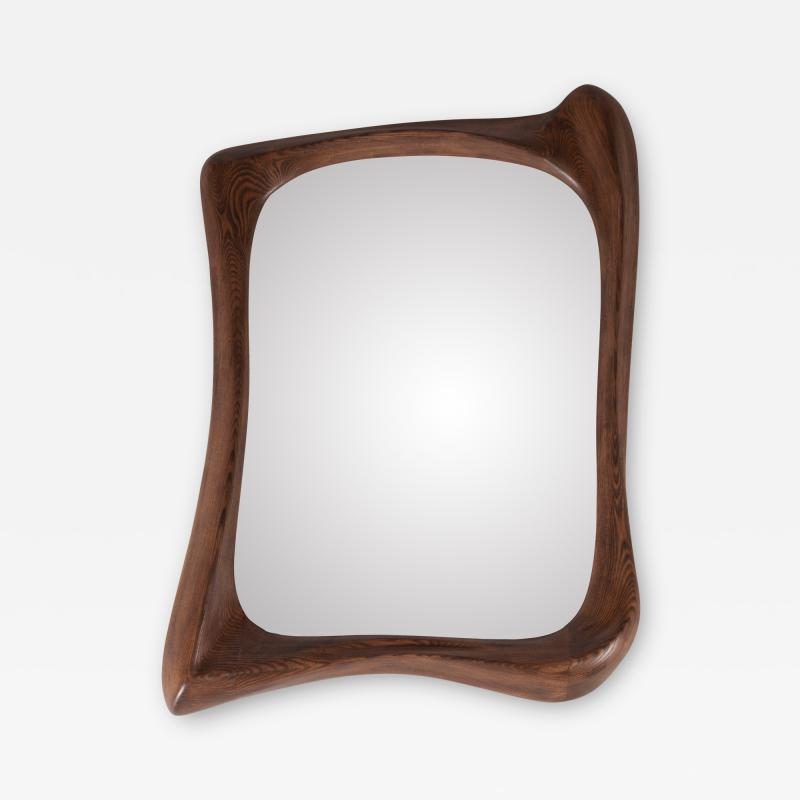 Amorph Amorph Narcissus Mirror frame Solid Wood Graphite Walnut Finish