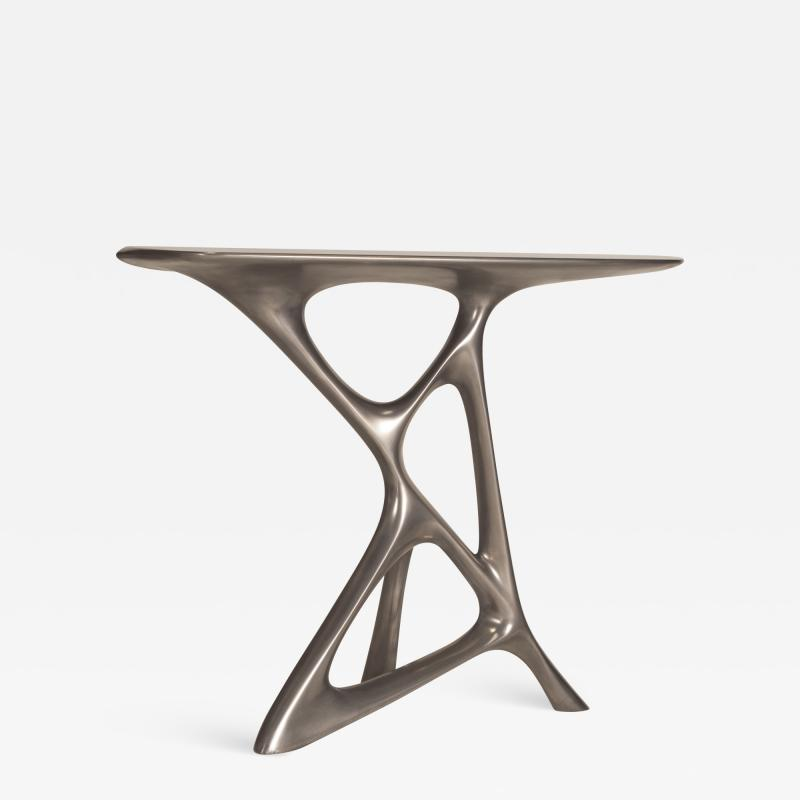 Amorph Anika Console Table in Stainless Steel Finish
