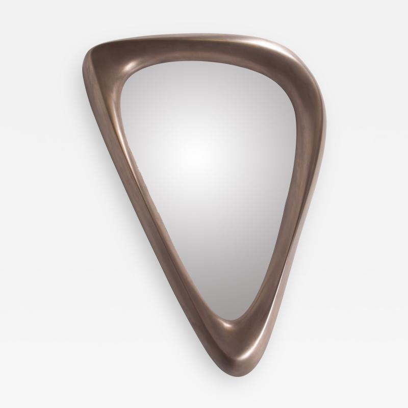 Amorph Contemporary Modern Triangular Mirror Bronze Finish