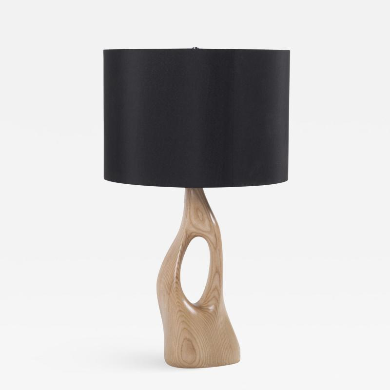 Amorph Contemporary Sculpture Wooden Table Lamp Solid Ash Wood