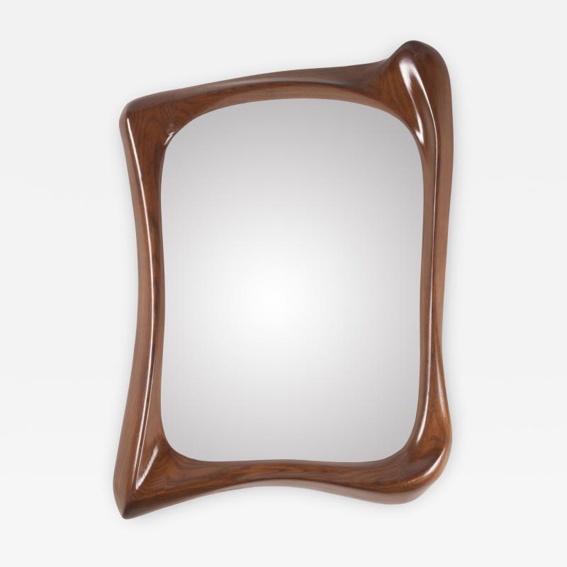 Amorph Narcissus Mirror Frame Walnut Finish
