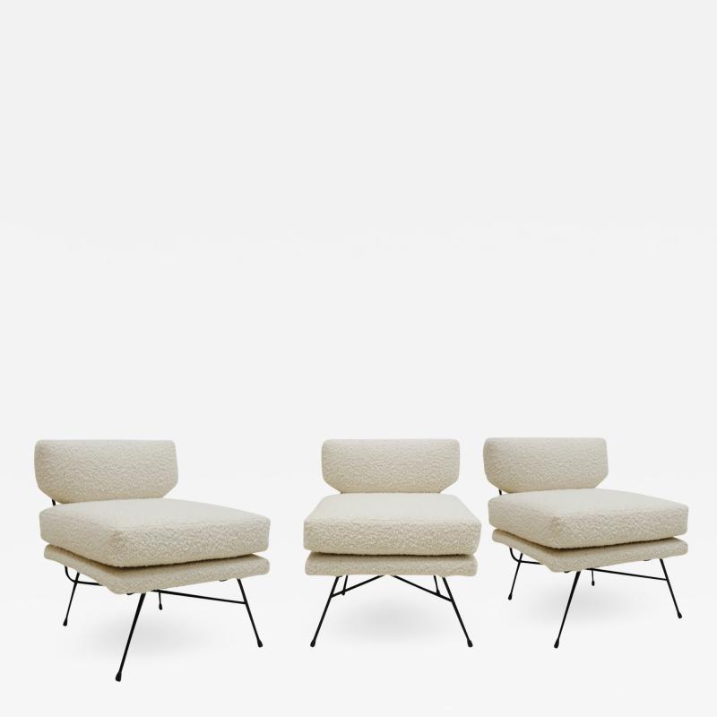 Arflex Mid Century Modern Set Of Three Armchairs Mod Elettra Designed By B B P R