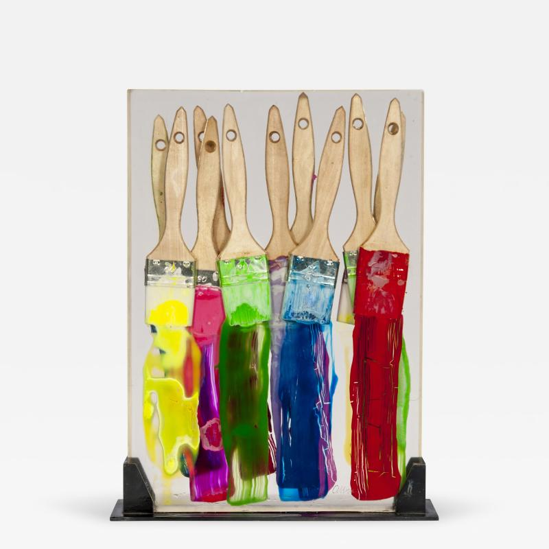 Arman 1970 lucite inclusion by Arman