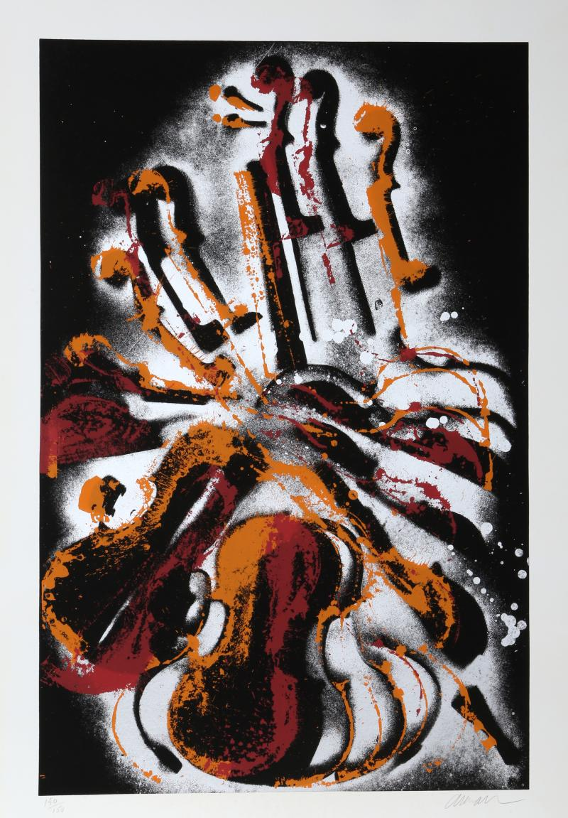 Arman Diabelli Varitions Serigraph by Arman