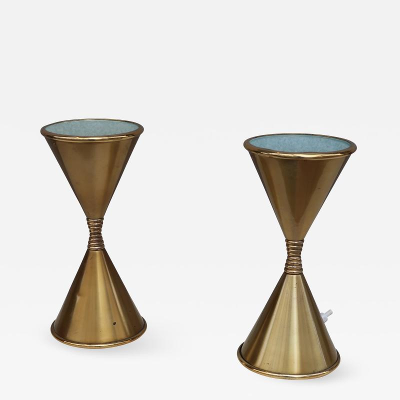 Arredoluce A Pair of Brass Table Lamps by Arredoluce Italy 1960