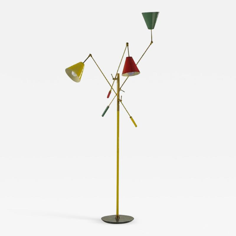 Arredoluce Arredoluce Triennale Three Arm Floor Lamp