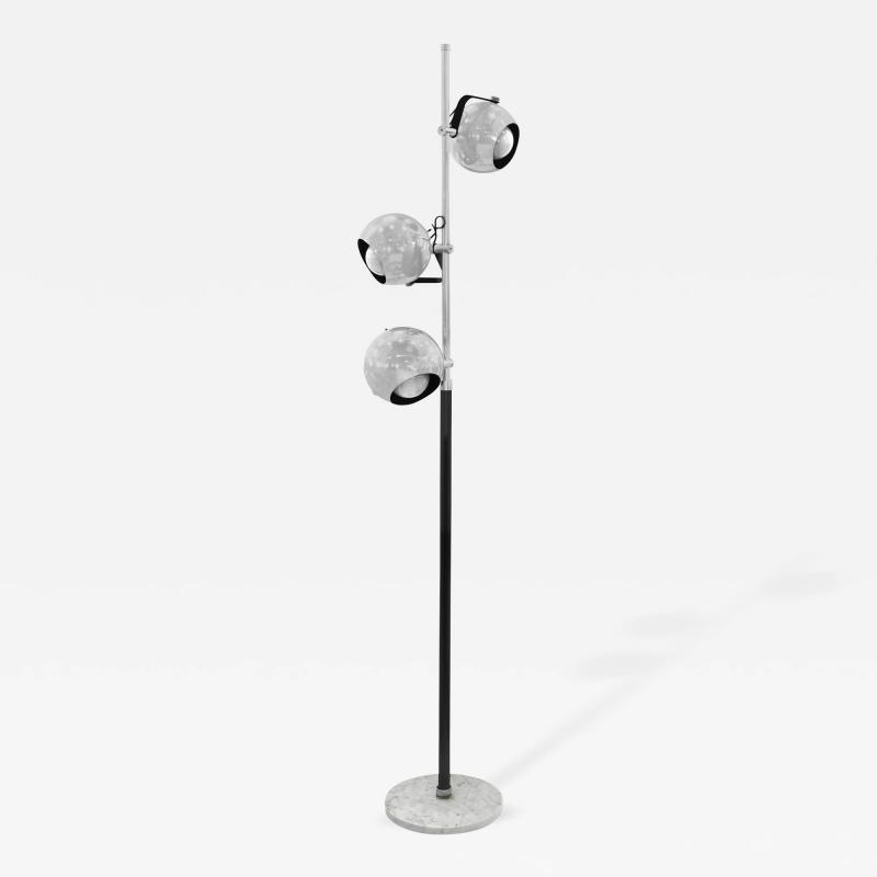 Arredoluce floor lamp with 3 adjustable chrome spheres for Lexington floor lamp chrome