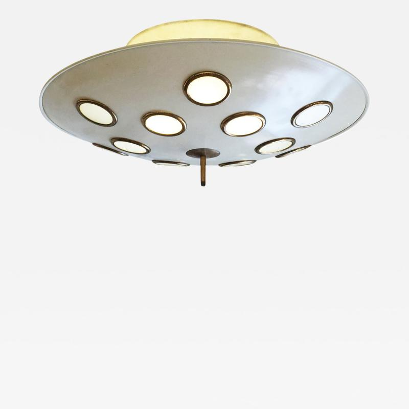 Arredoluce Saucer Flush Mount Chandelier Attributed to Arredoluce Italy 1950s