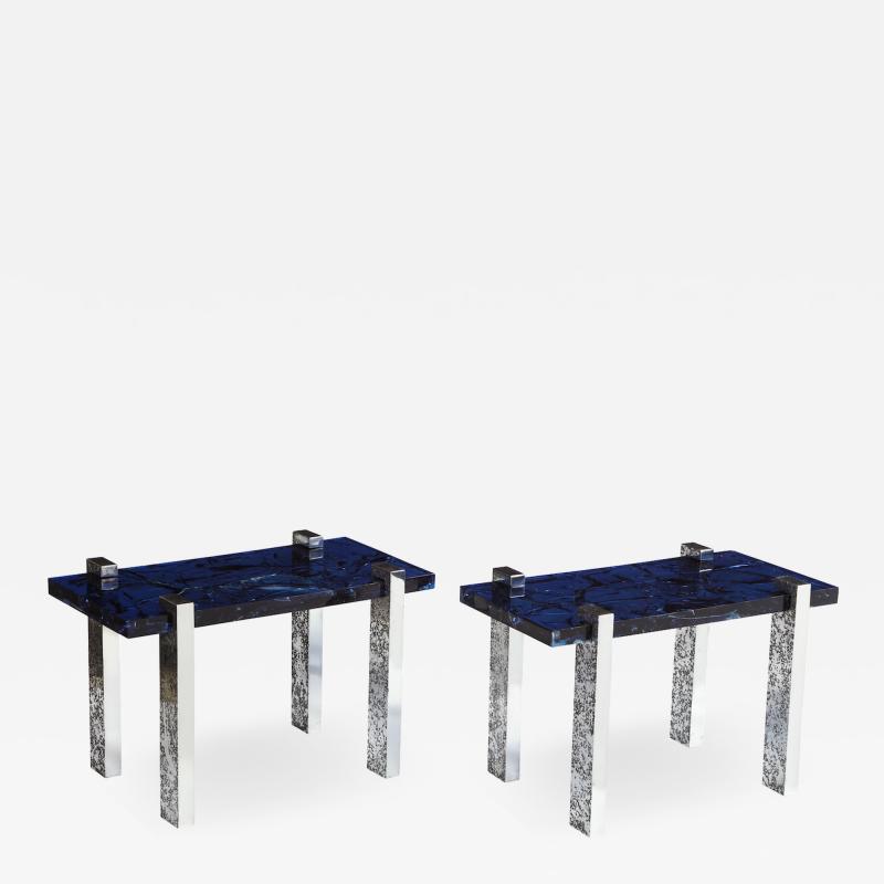 Arriau Pair of Petram Side Tables by Arriau
