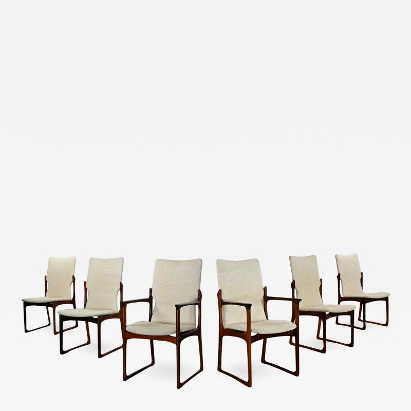 Art furn Scandinavian modern danish rosewood dining chairs by art furn