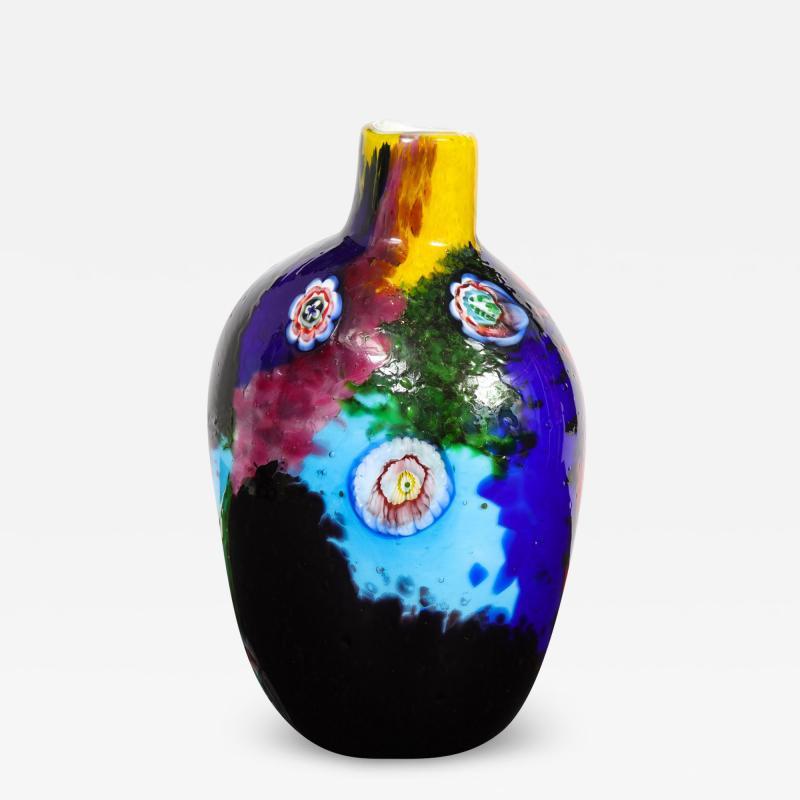 Arte Vetraria Muranese A V E M A Ve M AVeM Colorful Handblown Glass Vase by A V E M 1960s