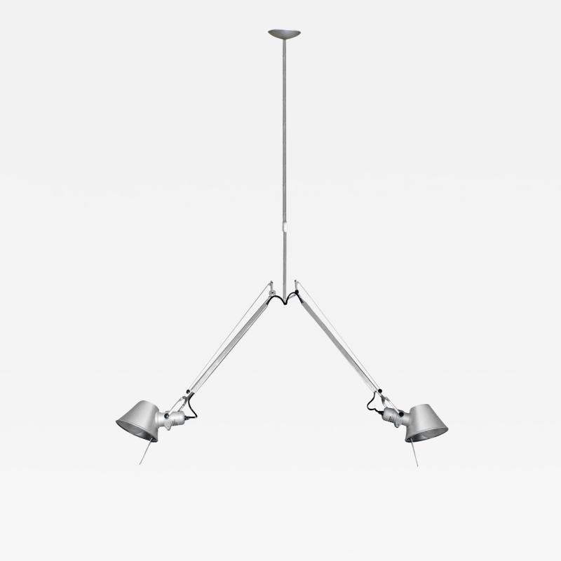 Artemide Artemide Tolomeo Fiber Double Pendant Lamp in Chrome 2015 signed
