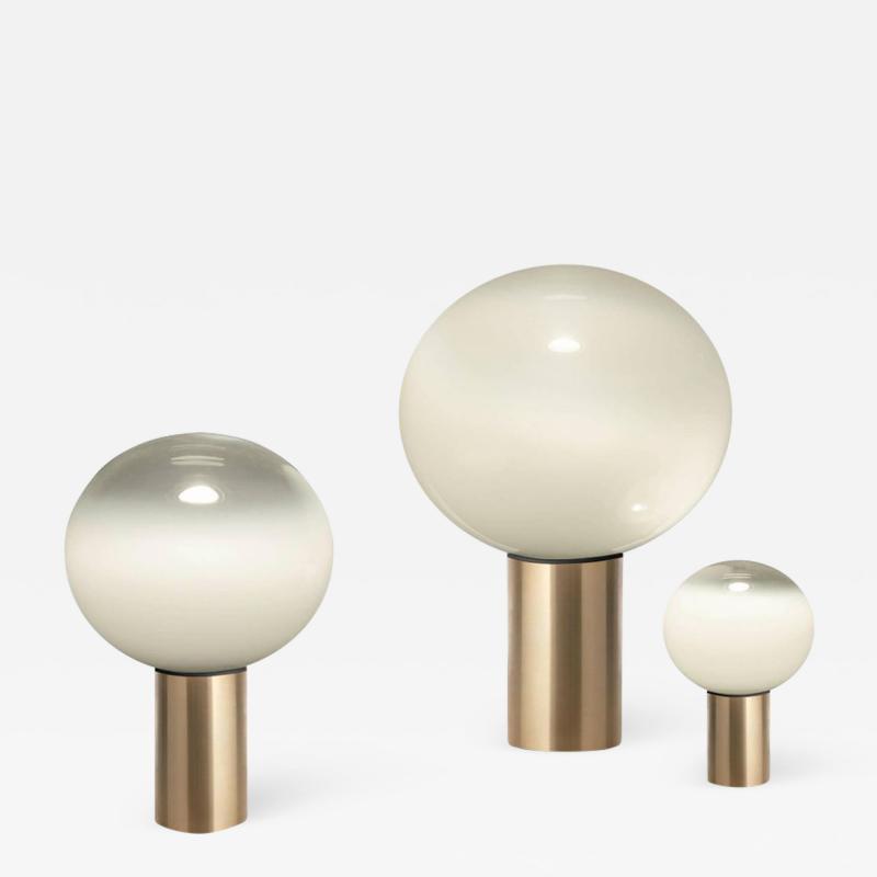 Artemide Mattheo Thun Laguna Glass and Gold Metal Table Lamp for Artemide