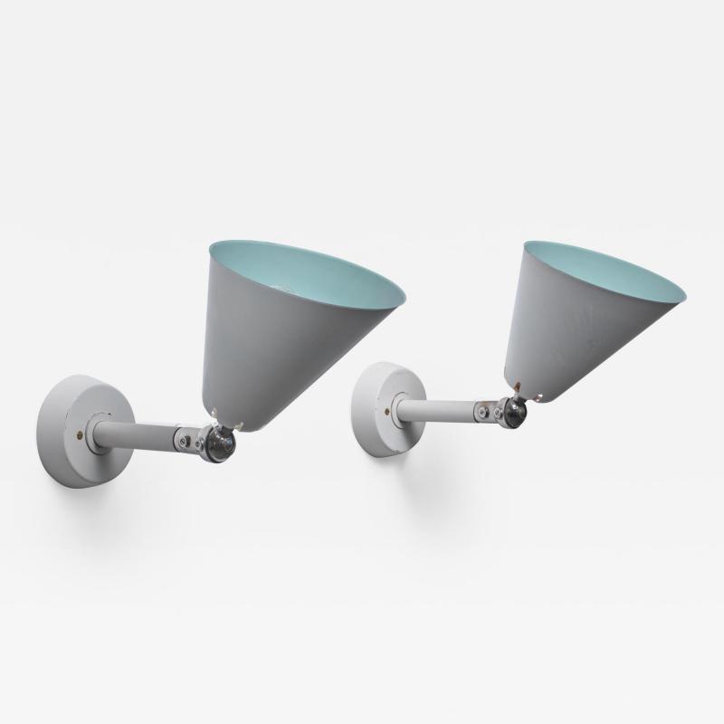 Asea Asea pair of adjustable wall lamps Sweden 1950s