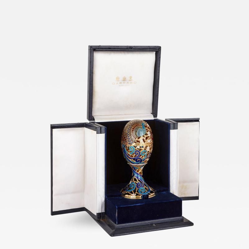 Asprey Faberg style bejewelled and enamelled gold egg by Asprey