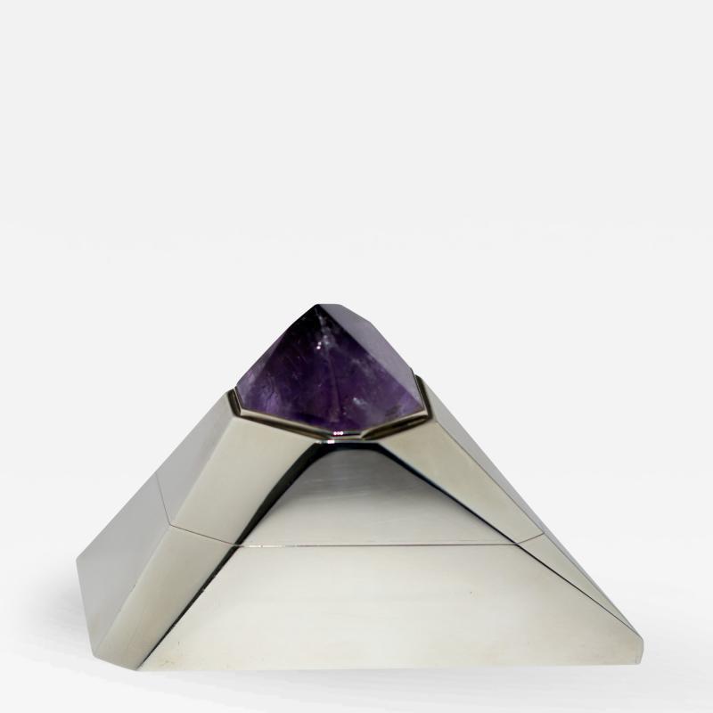 Asprey Jewelry Box by Asprey Sterling Silver Amethyst