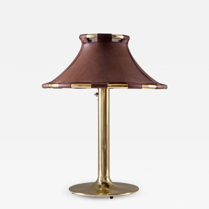 Atelje Lyktan Table Lamp in Brass and Leather Model Anna by Anna Ehrner for Atelj Lyktan