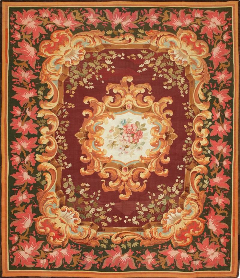 Aubusson Mid 19th Century Antique Handwoven Aubusson Tapestry