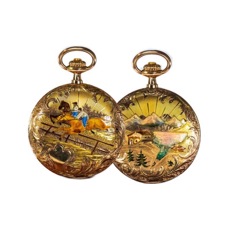 Audemars Piguet Audemars Piguet Pocket Rare 1880s Large Mens 42mm Double Enamel
