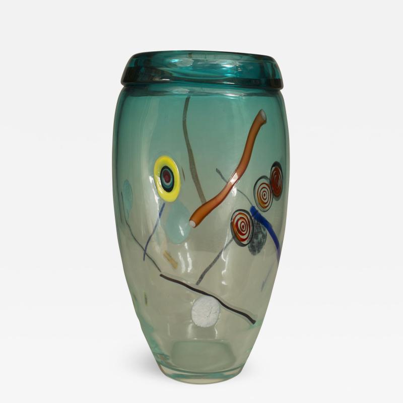 Aureliano Toso Italian 1970s Murano Glass Vase