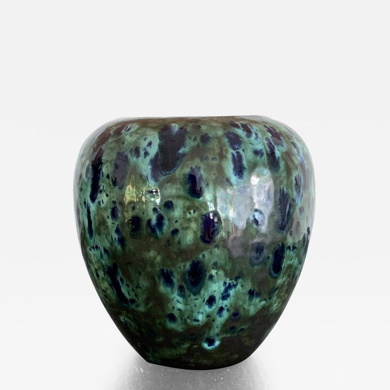 Awaji Pottery An Early Japanese Awaji Pottery Vase Meiji Period