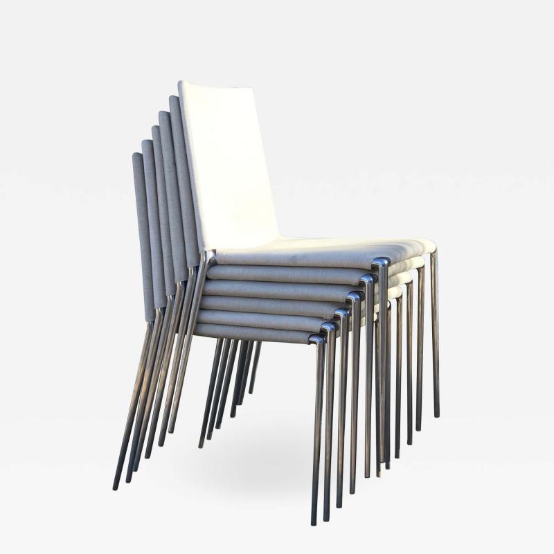 B B Italia B B Italia Roberto Barbieri Modern Flexibility ALMA Stackable Dining Chairs
