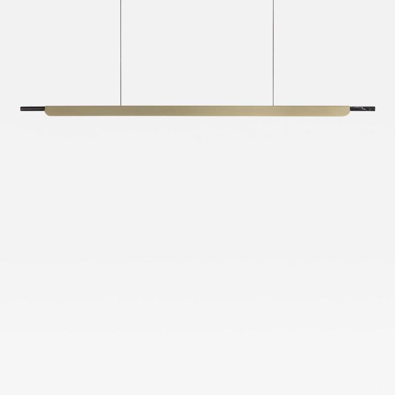 B TD Formation Linear Pendant LED Aluminum Marble Fixture Brushed Gold