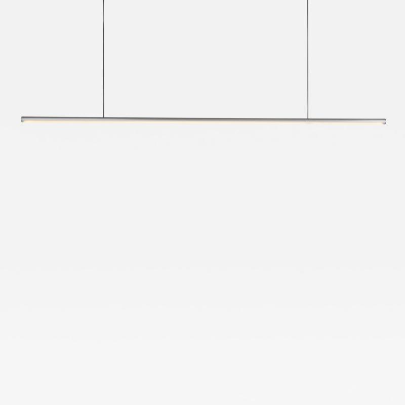 B TD Formation Stick Pendant Light LED Minimalist Aluminum Fixture Brushed Silver