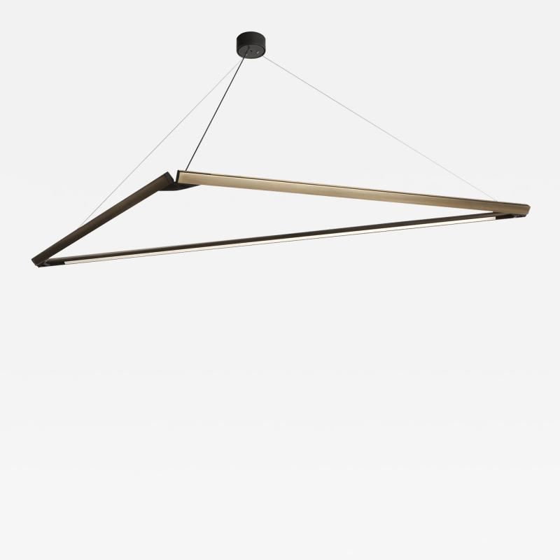 B TD Highline 3D 01 Brass Geometric Sculptural Led Pendant Light