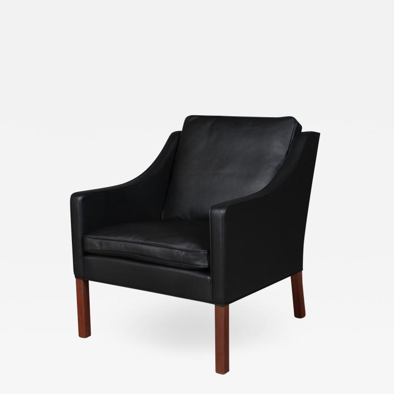 B rge Mogensen Borge Mogensen B rge Mogensen Armchair model 2207 Black leather