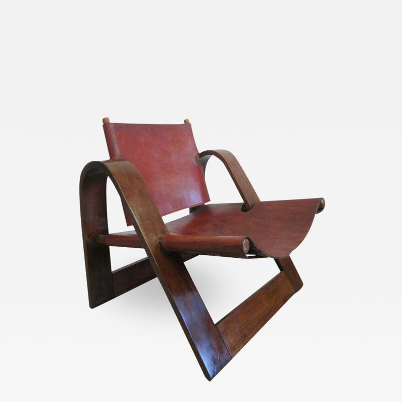 B rge Mogensen Borge Mogensen Danish Mid Century Modern Leather Strap Chair Attributed to Borge Mogensen