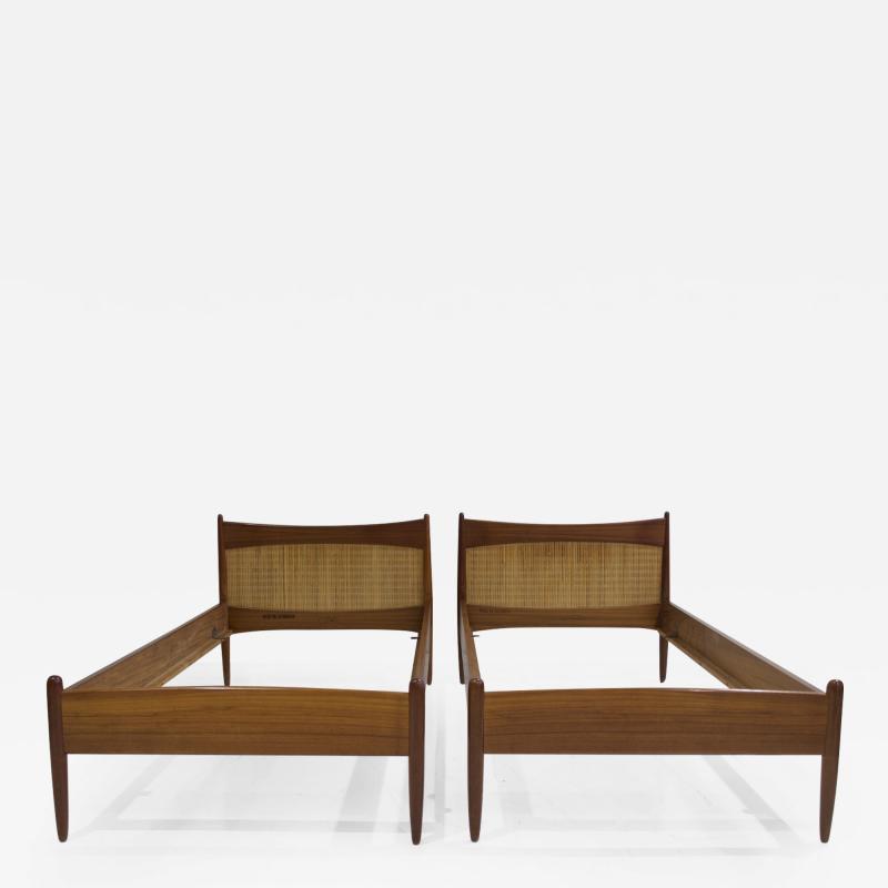 B rge Mogensen Borge Mogensen Pair of Teak Bed Frames by B rge Mogensen
