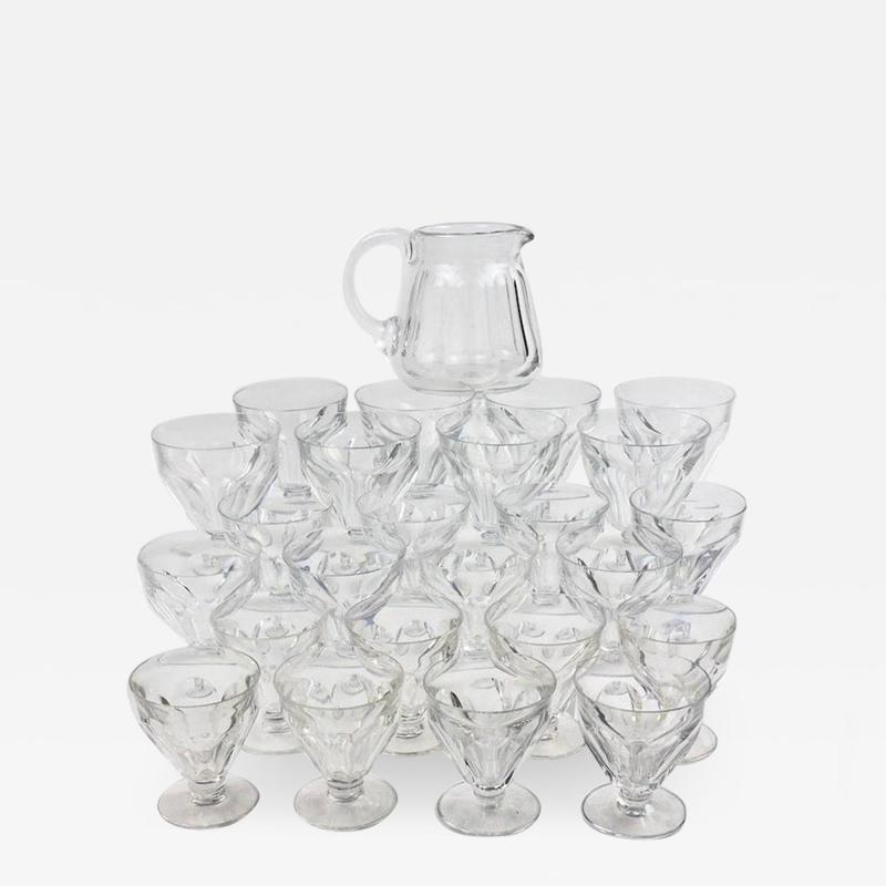 Baccarat Set of 24 Baccarat Crystal Talleyrand Wine Water and Liqueur Glasses